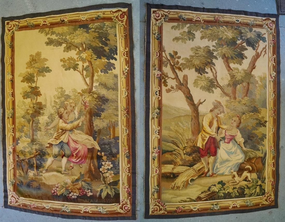 PR. 19TH C. FRENCH AUBUSSON TAPESTRIES
