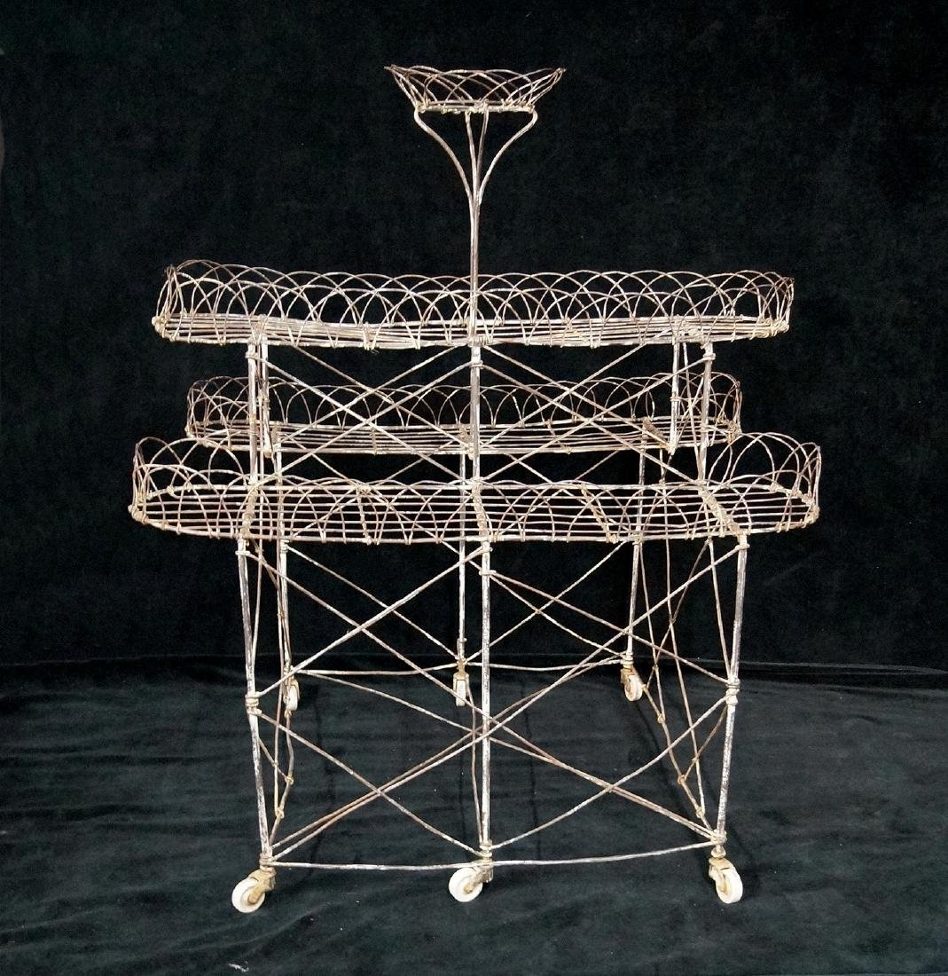 FRENCH WIRE 3 TIER PLANT STAND