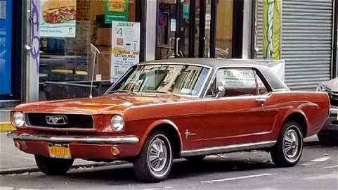 1966 FORD MUSTANG  EMBERGLOW  6 CYLINDER AUTOMATIC
