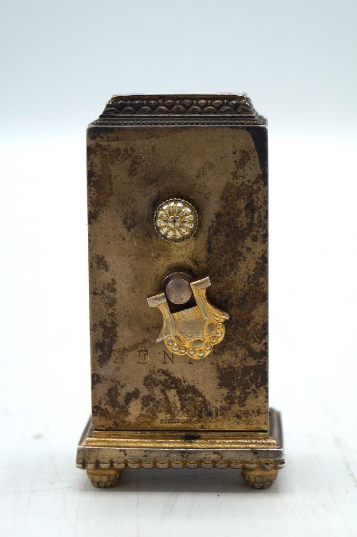 ZENITH ENAMEL & SILVER MINIATURE CLOCK - 5