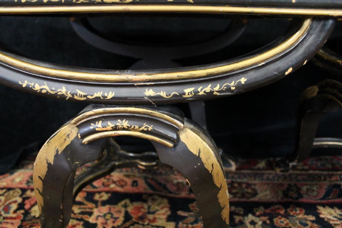 PR. REGENCY STYLE FAUX LEOPARD UPHOLSTERED BENCHES - 5