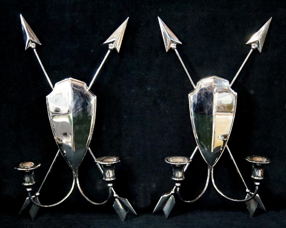 PR. CHROME 2 LIGHT SCONCES