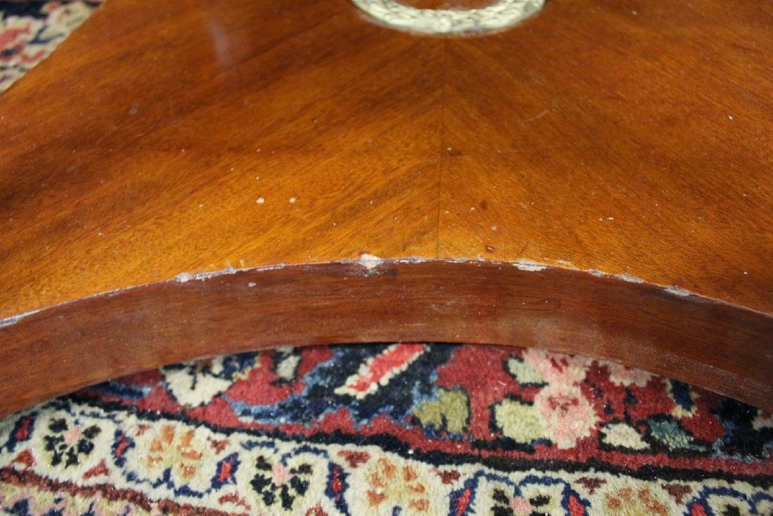 EMPIRE STYLE BRONZE MOUNTED MARBLE TOP CENTER TABLE - 6