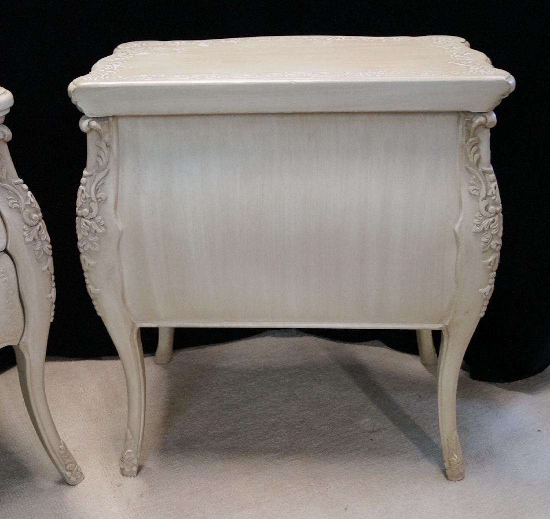 PR. LOUIS XV STYLE PAINT DECORATED 2 DRAWER COMMODES - 10
