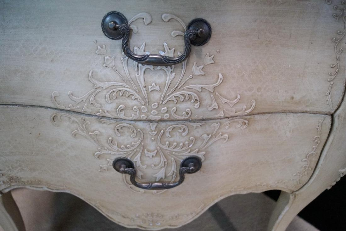 PR. LOUIS XV STYLE PAINT DECORATED 2 DRAWER COMMODES - 7