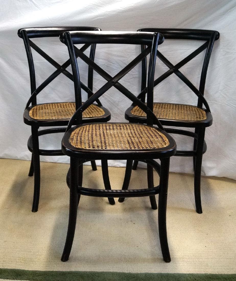 3 THONET STYLE CANED SIDE CHAIRS