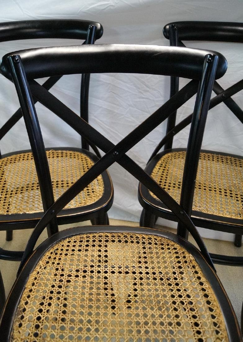 3 THONET STYLE CANED SIDE CHAIRS - 2