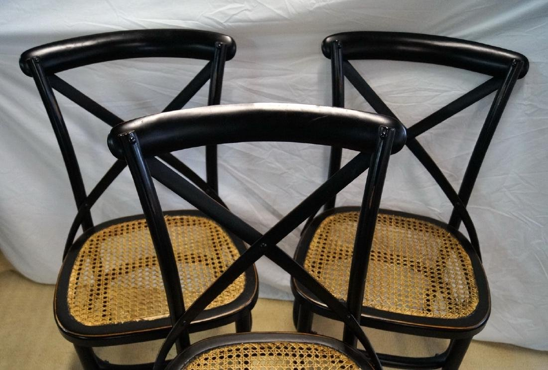3 THONET STYLE CANED SIDE CHAIRS - 3