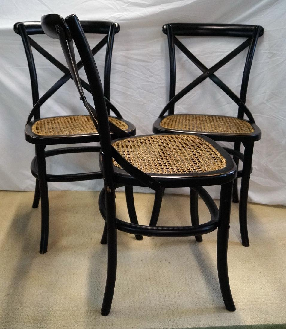 3 THONET STYLE CANED SIDE CHAIRS - 4