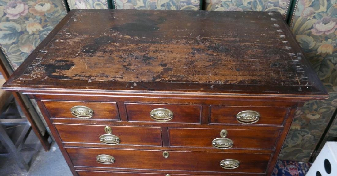 C. 1780 ANTIQUE PA. CHERRY HIGH CHEST OF DRAWERS - 4