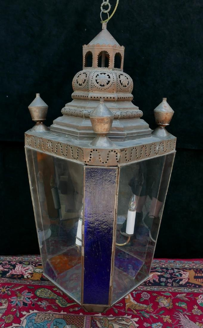 ANTHONY BARATTA: OVERSIZED COLOR GLASS LANTERN