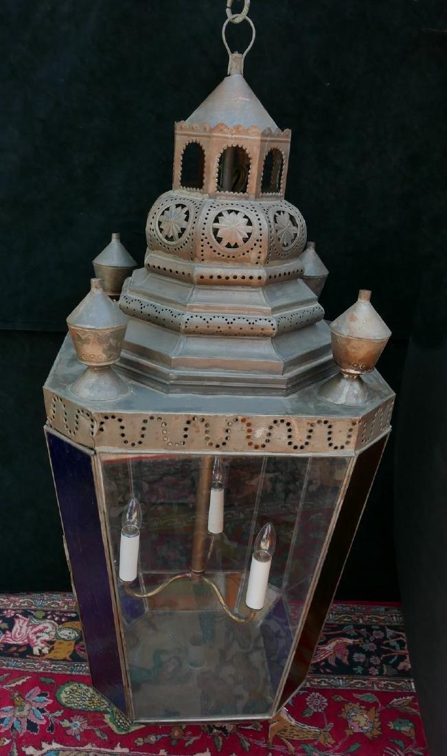 ANTHONY BARATTA: OVERSIZED COLOR GLASS LANTERN - 5
