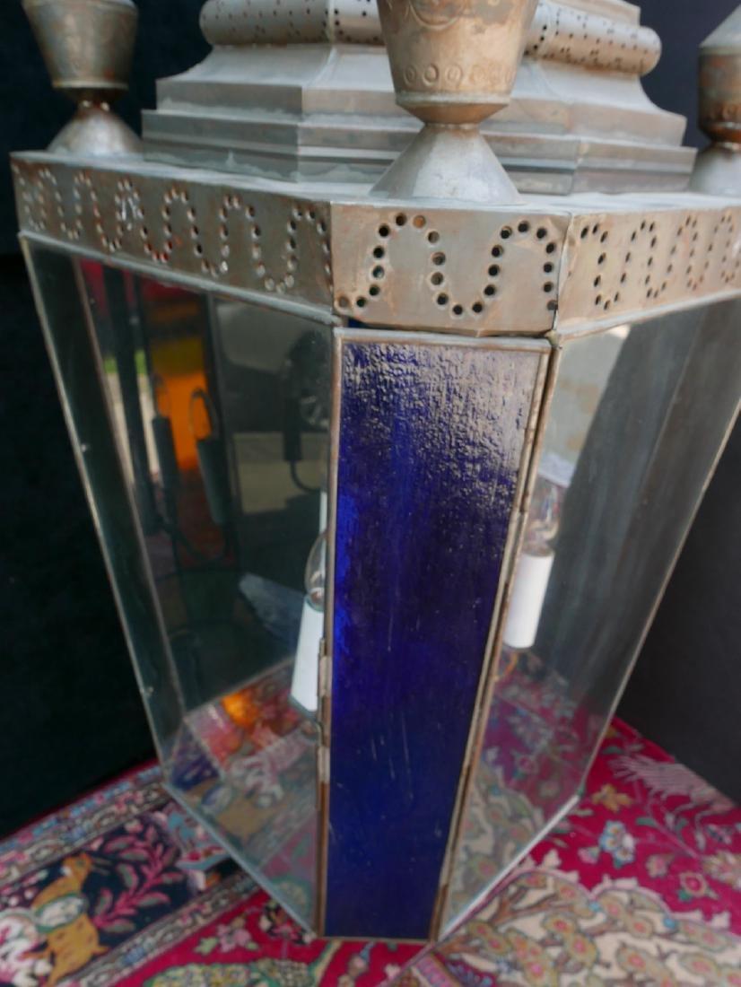 ANTHONY BARATTA: OVERSIZED COLOR GLASS LANTERN - 6