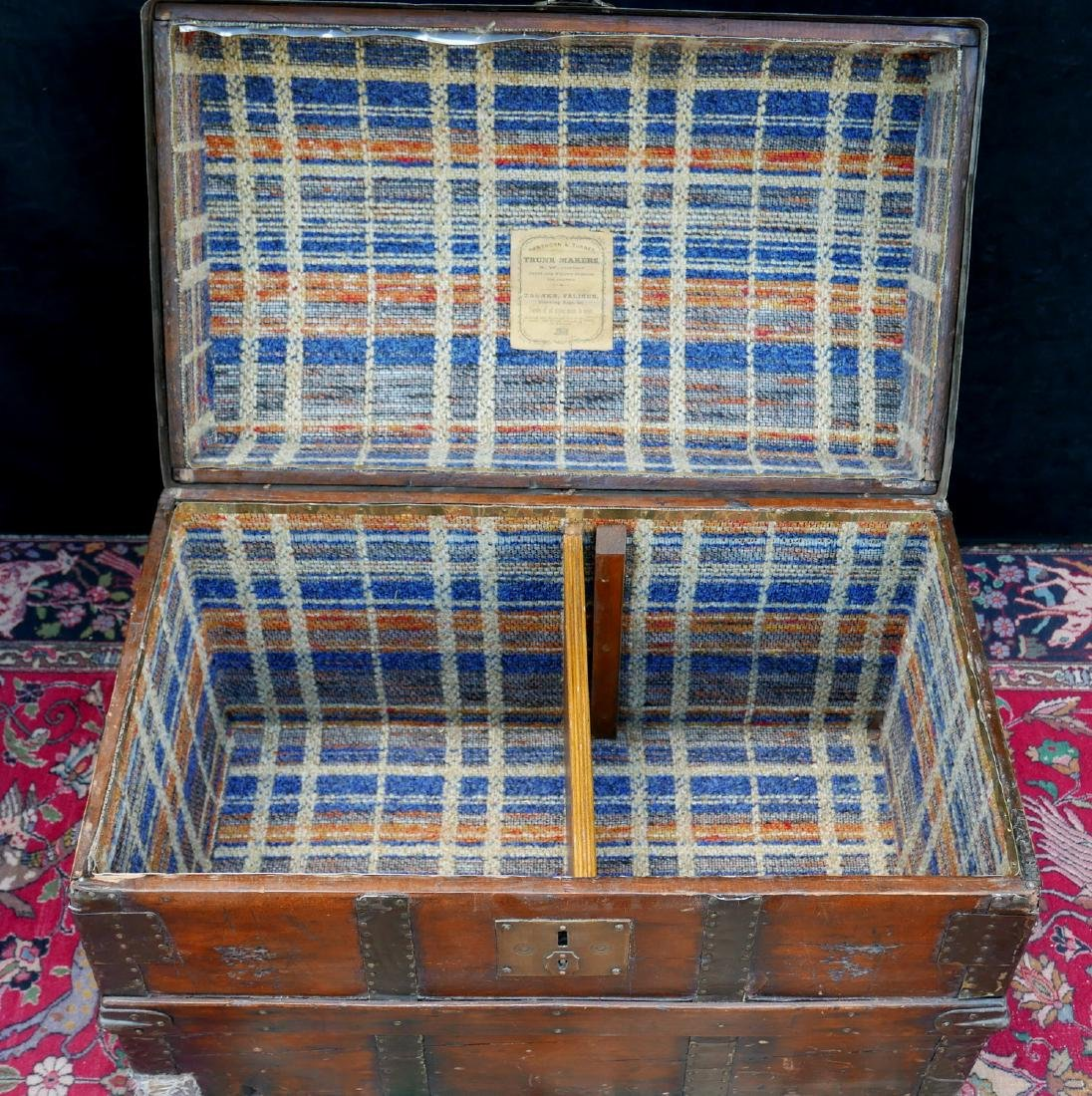 VINTAGE HAWTHORN & TURNER DOME TOP TRUNK - 5
