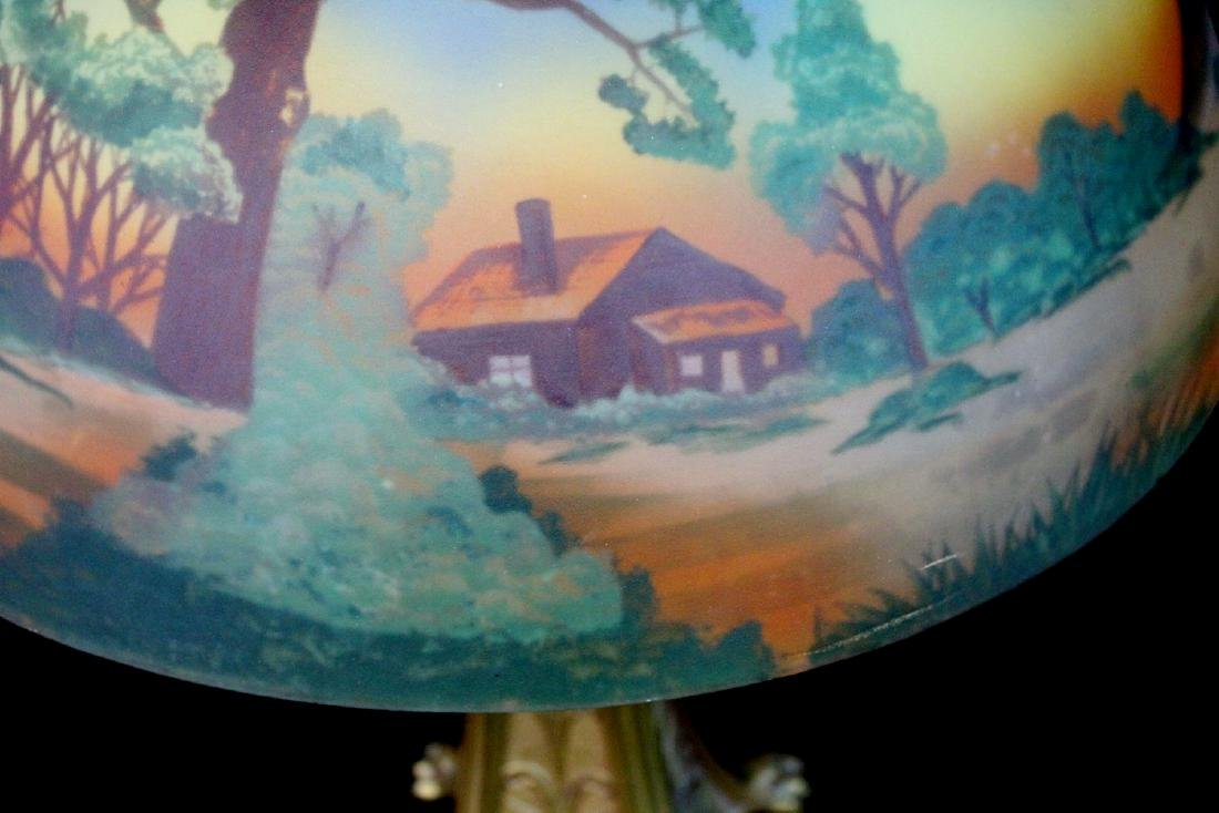 REVERSE PAINTED TABLE LAMP - 2
