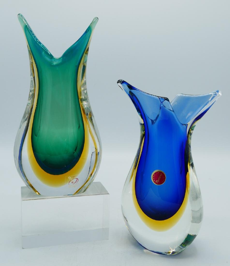 2 MURANO GLASS VASES - 2