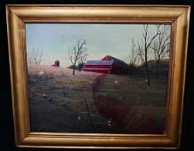 "THOMAS KERRY SGN. OIL ON BOARD ""FARM LANDSCAPE"""