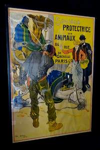 """LEON CARRE FRENCH LITHOGRAPH POSTER """" SOCIETE"""