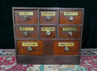 VINTAGE APOTHECARY CHEST