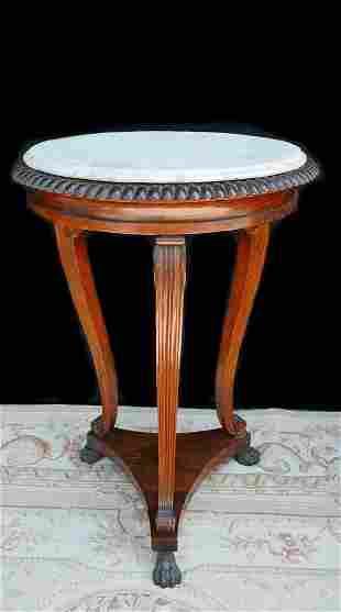 GEORGIAN STYLE CIRCULAR MARBLE TOP TABLE