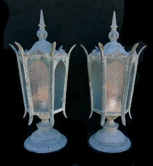 PR METAL GLASS LANTERNS