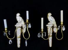 PR. ROCK CRYSTAL BIRD SCONCES