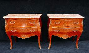 PR. BRONZE MOUNTED COMMODES