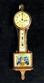 AARON WILLARD EARLY HULL REPRODUCTION BANJO CLOCK