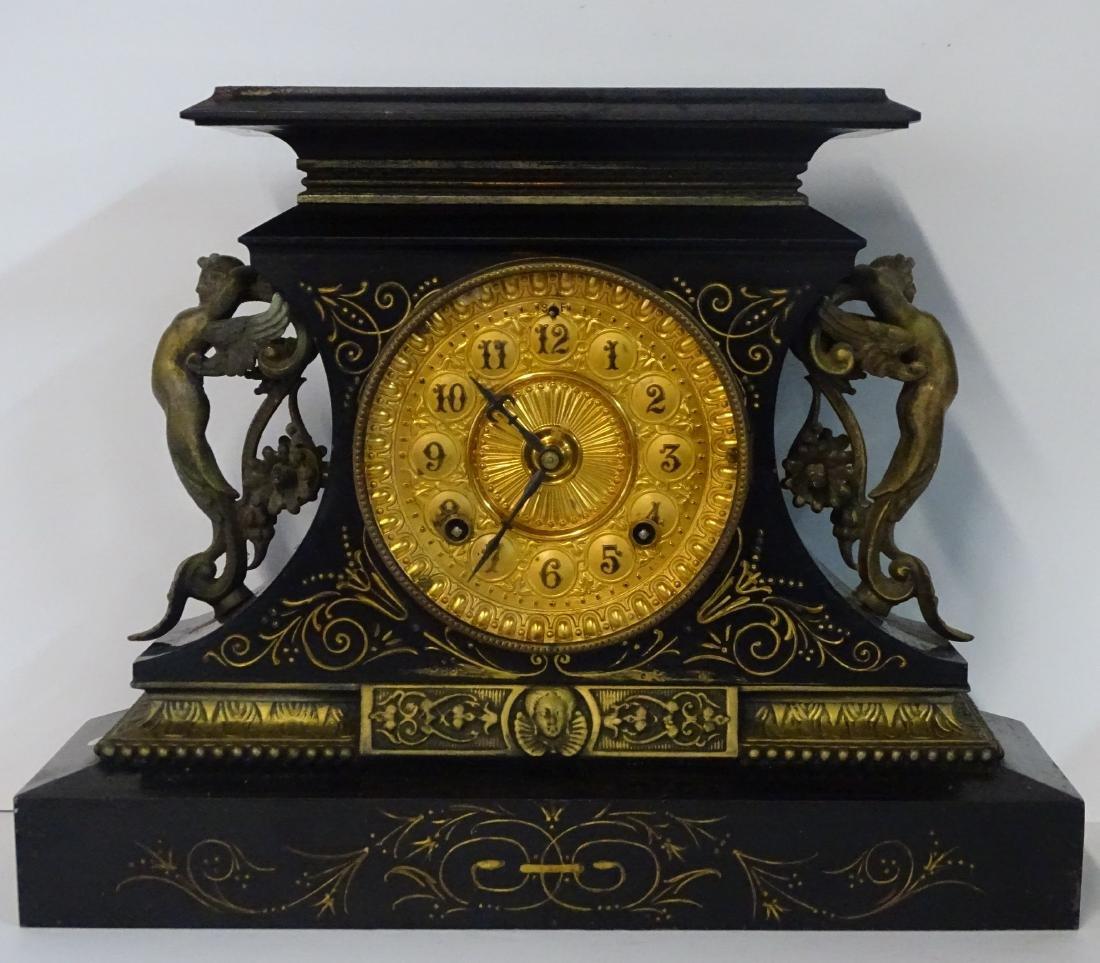 ANSONIA METAL MANTLE CLOCK