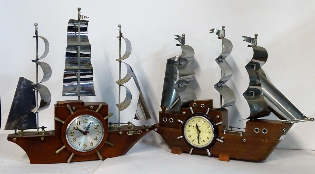 2 ELECTRIC SHIP CLOCKS SESSIONS & UNITED