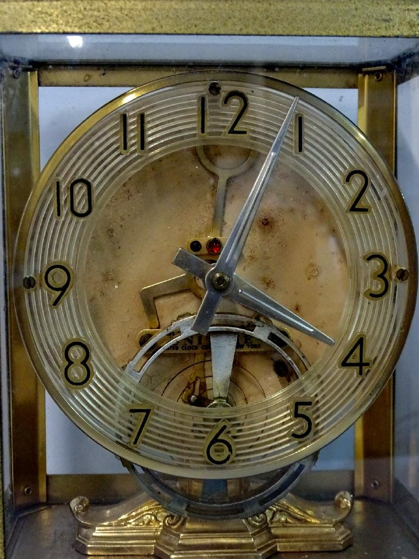UNITIME UNITED CLOCK CO. N.Y. BRASS & GLASS ELECTRIC - 2