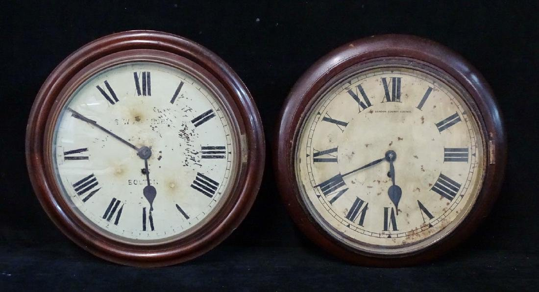 2 19TH C. LONDON & BOLTON GALLEY CLOCKS