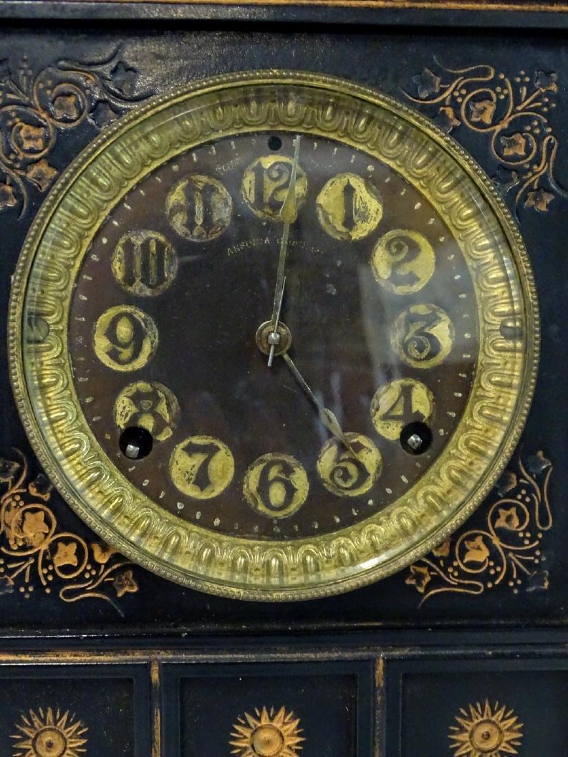 ANSONIA METAL MANTLE CLOCK - 2