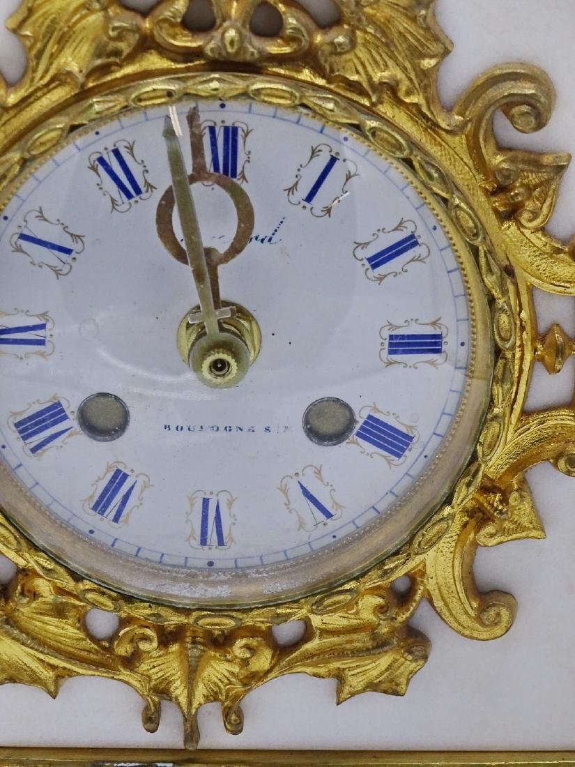 FRENCH BRONZE & MARBLE CLOCK - 2