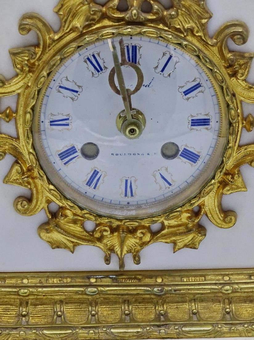 FRENCH BRONZE & MARBLE CLOCK - 3