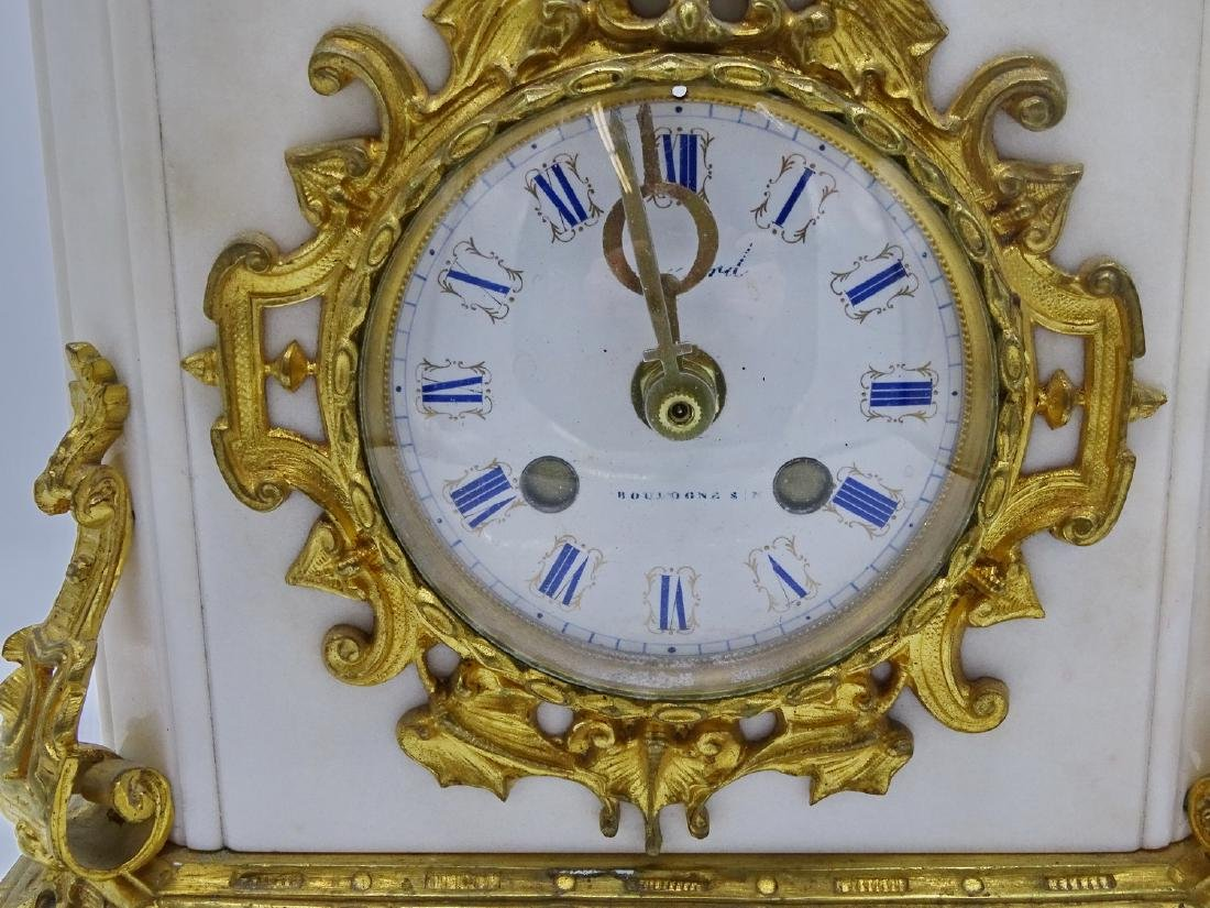 FRENCH BRONZE & MARBLE CLOCK - 5