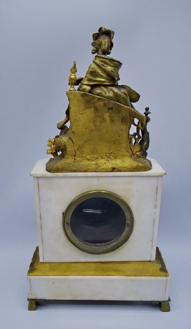 FRENCH BRONZE & MARBLE CLOCK - 7