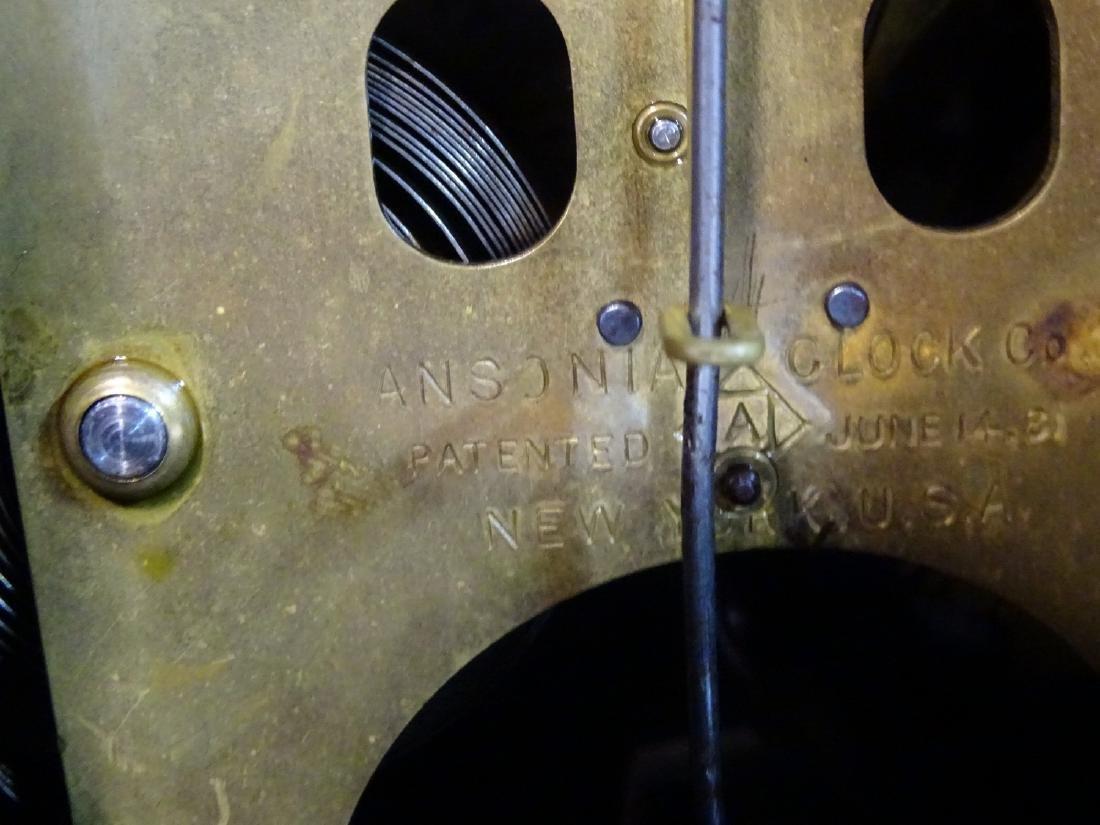 2 ANSONIA 6 COLUMN METAL MANTLE CLOCKS - 4