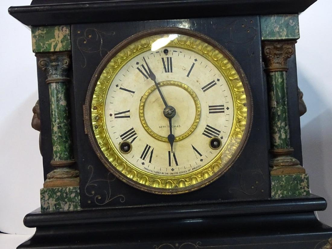 2 MANTLE CLOCKS: 1 SETH THOMAS    & 1 UNMARKED - 3