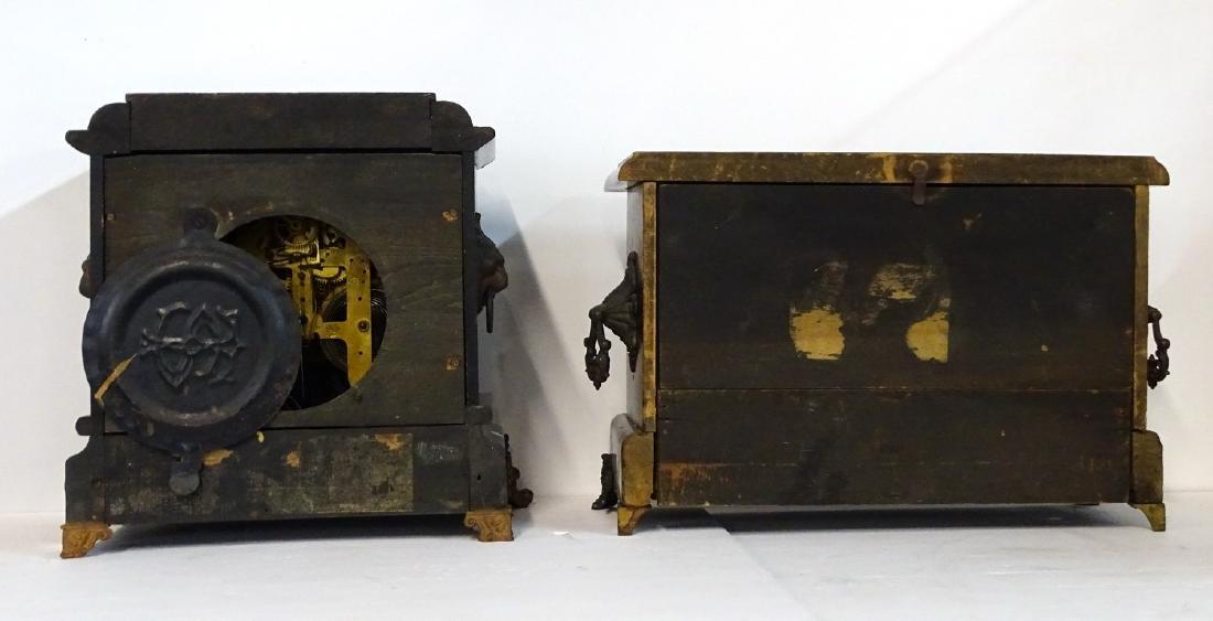 2 MANTLE CLOCKS: 1 SETH THOMAS    & 1 UNMARKED - 5