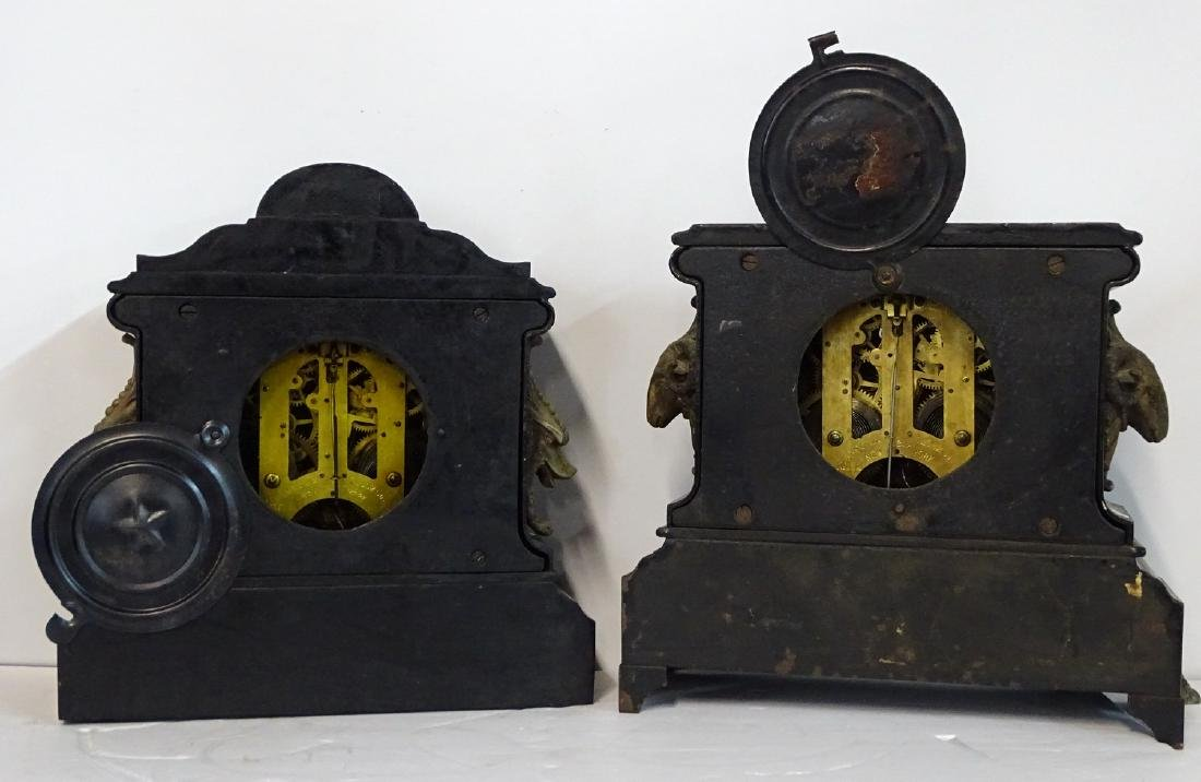 2 ANSONIA METAL MANTLE CLOCKS (GLASGOW & LONDON) - 3
