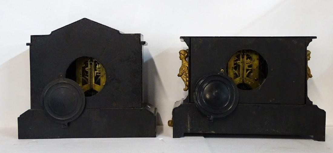 2 ANSONIA METAL MANTLE CLOCKS; 1 BRISTOL EXTRA - 3