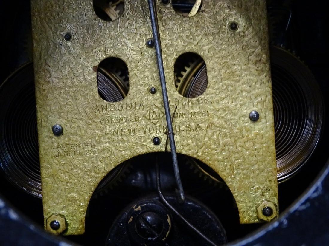 2 ANSONIA SERVIA METAL MANTLE CLOCKS OPEN ESCAPEMENTS - 4