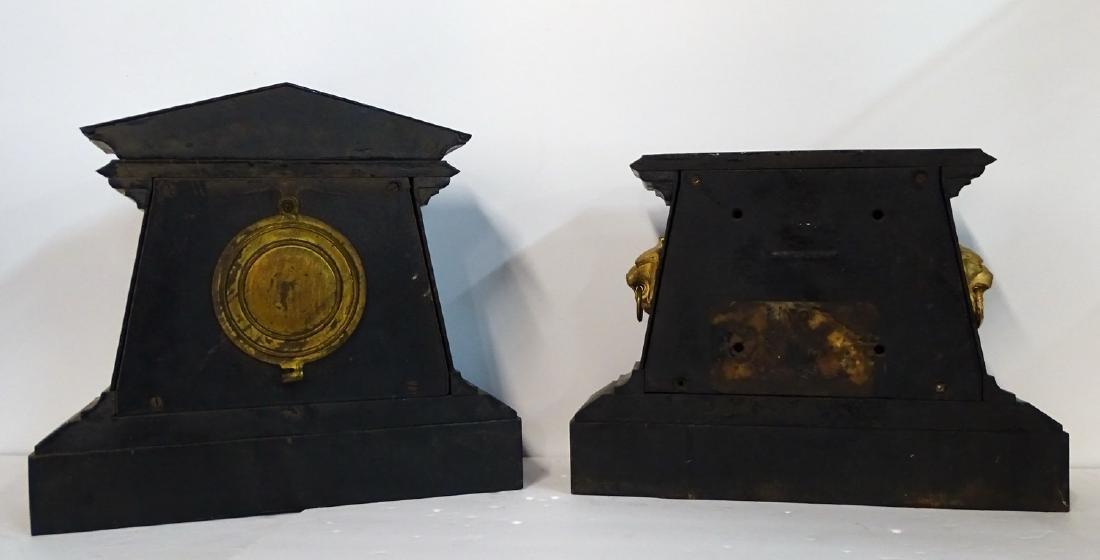 2 ANSONIA METAL MANTLE CLOCKS - 2
