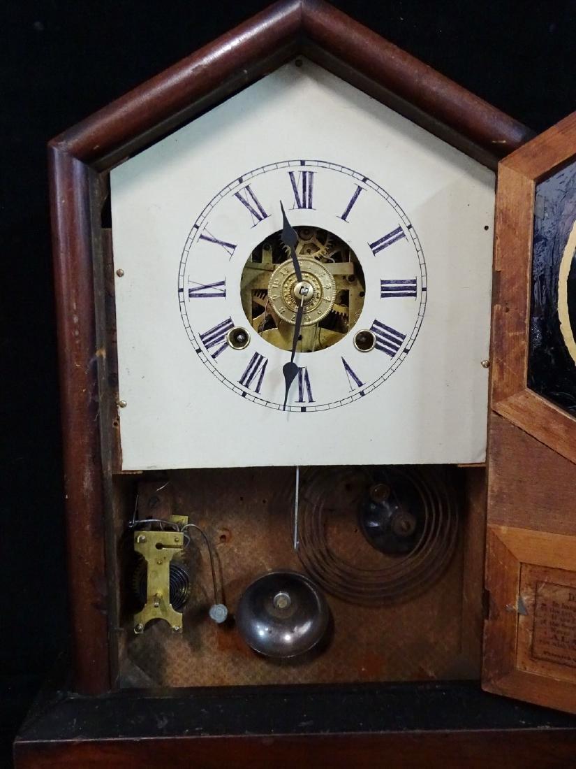 2 CLOCKS: JEROME & CO. & INGRAHAM STEEPLE CLOCK WITH - 4