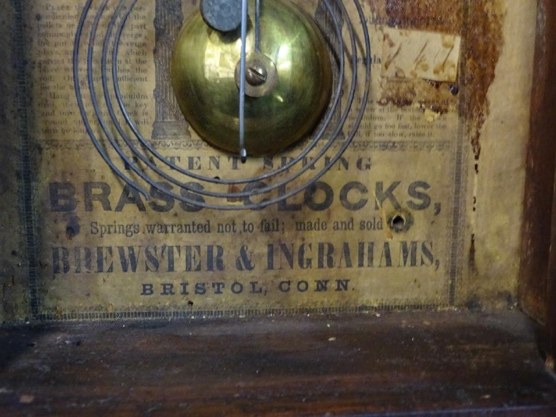 2 CLOCKS: JEROME & CO. & INGRAHAM STEEPLE CLOCK WITH - 9