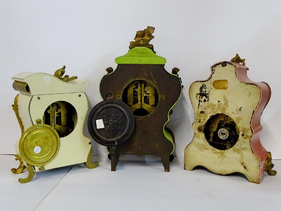 3 CLOCKS: F.K. ROEBER CO. 1894  & 2 ANSONIA METAL - 2