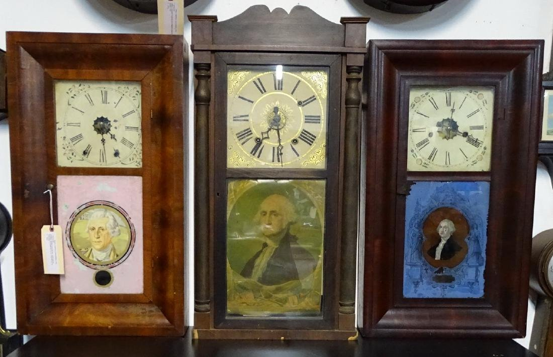3 19TH C. OGEE CLOCKS