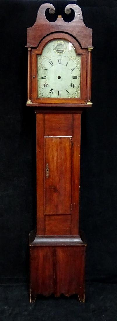 18TH/19TH C. AMERICAN TALLCASE CLOCK