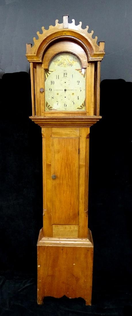"S. THOMAS ""PLYMOUTH"" TALL CASE CLOCK"